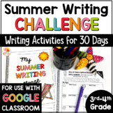 30-Day Summer Writing Challenge for 3rd and 4th Grade