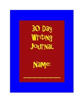 30 Day Writing Journal