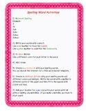 30 Days Of Fun--  spelling word activities