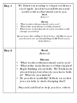 30 Days in James: Short Devotions for Teens and Adults