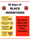30 Days of Black Inventions: Printable Posters about the Black Inventors