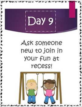 30 Days of Friendship: Social Skills/Character Building Tasks