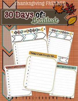 30 Days of Gratitude (Freebie)