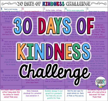 30 Days of Kindness Challenge #kindnessnation