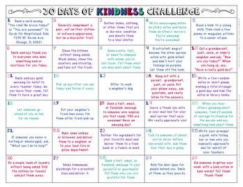 30 Days of Kindness Challenge #kindnessnation