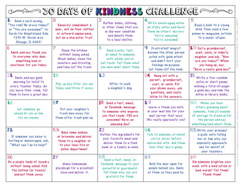 30 DAYS OF KINDNESS CHALLENGE: Student or Class Activity (FREE)