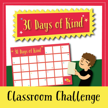 30 Days of Kindness: Classroom Challenge (in English and Spanish)