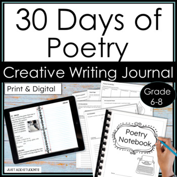 Distance Learning 30 Days of Poetry a Digital Writing Notebook