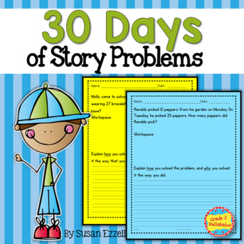 30 Days of Differentiated Story Problems {Grade 2 Math - 2.OA.1}
