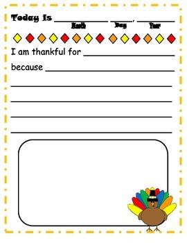 30 Days of Thanks Journal Writing (Thanksgiving)