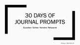 30 Days of Writing
