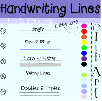 30 Different Handwriting Lines: All Sizes & Colors