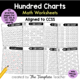 Different One Hundred Math Charts aligned for the Common Core