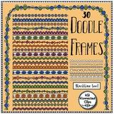 30 Doodle Frames - Borders - Color and Line Art!