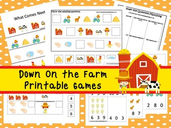 30 Down On the Farm Games Download. Games and Activities in PDF files.