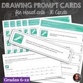 30 Drawing Prompt Task Cards with Completion Sheet