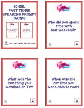 30 ESL - ELL past tense speaking questions