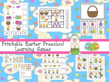 30 Easter Preschool Learning Games Download. ZIP file.