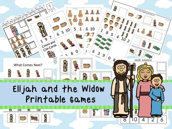 30 Elijah and the Widow themed Printable Games and Activities. Christian Studies