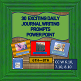 30 Exciting Daily Journal Bellringers Topics Power Pt for Middle Grades