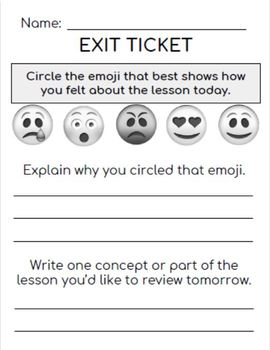 30 Exit Tickets for ANY Subject!  Grades 3-9