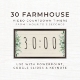30 FARMHOUSE Video Countdown Timers - For PowerPoint, Goog