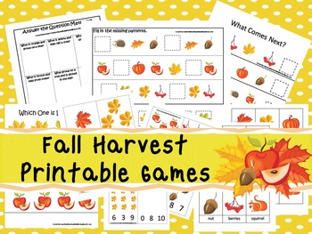 30 Fall Harvest Games Download. Games and Activities in PDF files.
