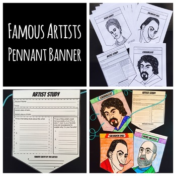 30 Famous Artists Pennant Banner