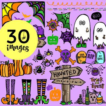 30 Festive Halloween Clip-Art