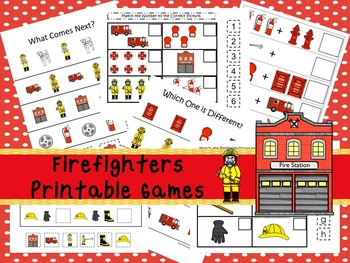 30 Firefighters Games Download. Games and Activities in PDF files.