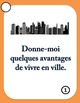 30 French Speaking Prompts - En ville - City Vocabulary