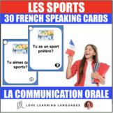 30 French Speaking Prompts -Les sports d'hiver et d'été-Fr