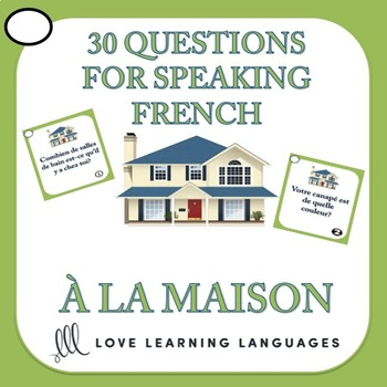 30 French Speaking Prompts - À la maison