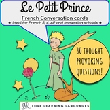 30 French speaking prompt question cards - Le Petit Prince