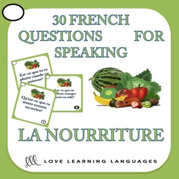 30 French speaking prompts - La nourriture - Food