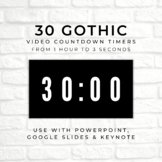 30 GOTHIC (B) Video Countdown Timers - For PowerPoint, Goo