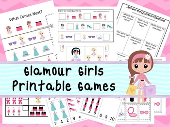 30 Glamour Girls Games Download. Games and Activities in PDF files.