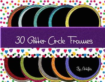 FRAMES. 30 Glitter Circle Frames!
