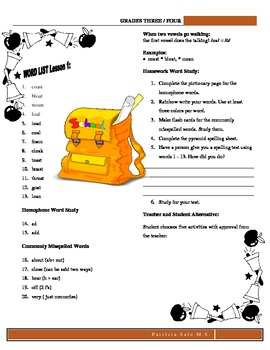 30 Grades 3 or 4 Spelling Lists to Learn Using Patterns