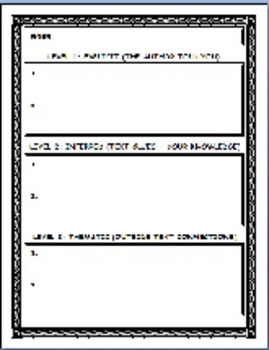 30 Graphic Organizers: Story Elements, Diction, Tone, Mood, Theme +