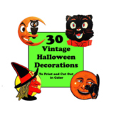 30 Halloween Decorations to Print and Cut. Vintage Halloween.
