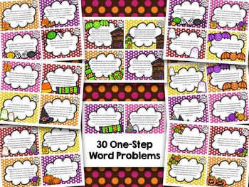 30 Halloween One-Step Word Problems