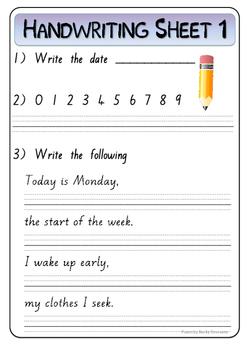 teaching pre cursive handwriting