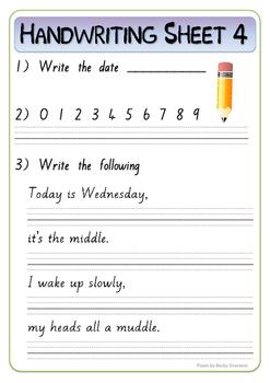 30 Handwriting practice worksheets (New Zealand pre-cursive font)