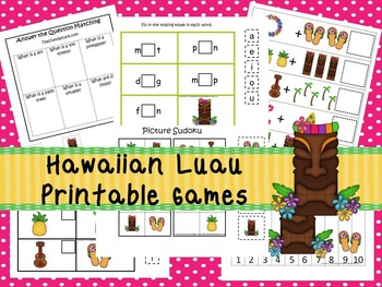 30 Hawaiian Luau Games Download. Games and Activities in PDF files.