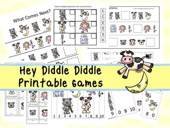 30 Hey Diddle Diddle Games Download. Games and Activities in PDF files.