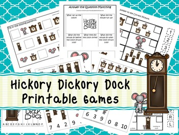 30 Hickory Dickory Dock Games Download. Games and Activities in PDF files.