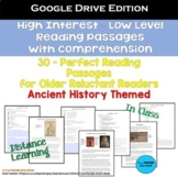 30 High Interest: Low Level Reading Passages - Ancient His