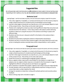 30 Highly Engaging Opinion Writing Prompts with Video Links!