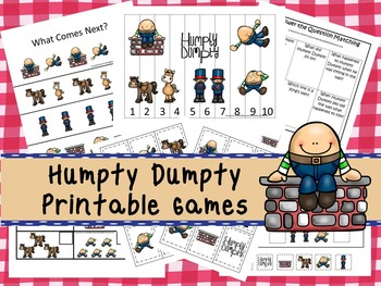 30 Humpty Dumpty Games Download. Games and Activities in PDF files.
